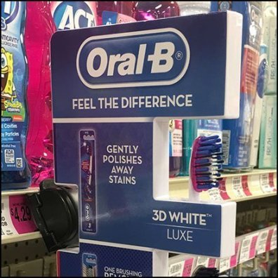 Oral-B Shelf Edge Toothbrush Differentiator Feature