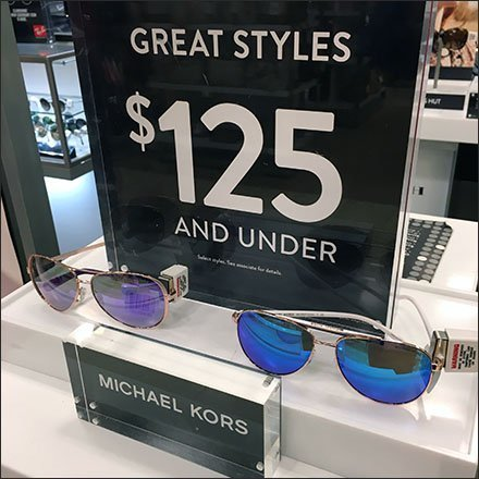 Sunglass Hut Michaels Kors Eyewear Display