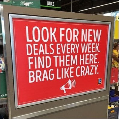 Aldi Deals Brag In-Store Promotion