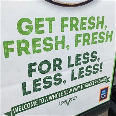 Get-Fresh-For-Less Produce Promotion Sign