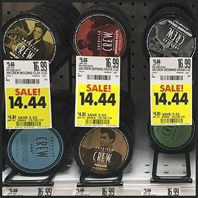 Pomade Hair Dressing Shelf-Top Rack