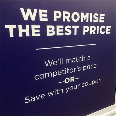 Best Price Promise Fulfilled Two Ways