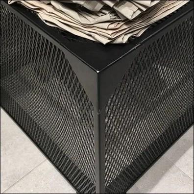 Black Expanded Metal Display Base