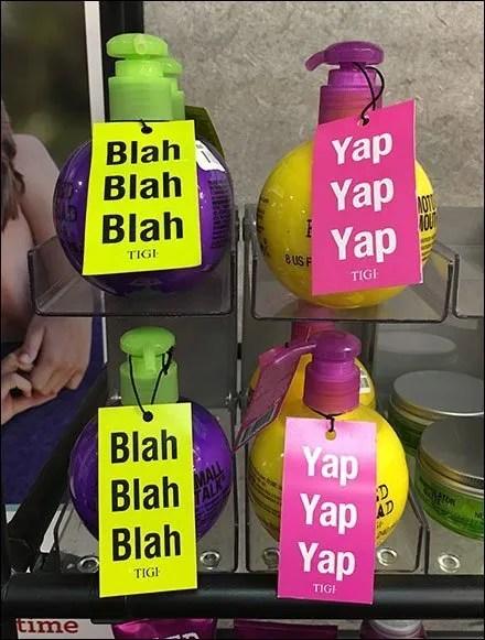 Blah-Blah Yap-Yap Merchandising Tagline