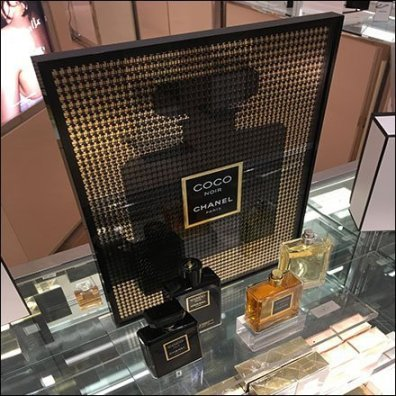 Chanel Coco Noir Counter-Top Display Feature