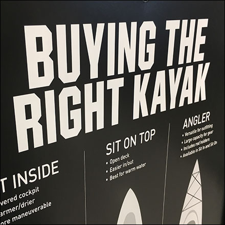 Choosing The Right Kayak Tips In-Store Sign