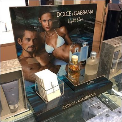Dolce & Gabbana Light Blue Counter-Top Display