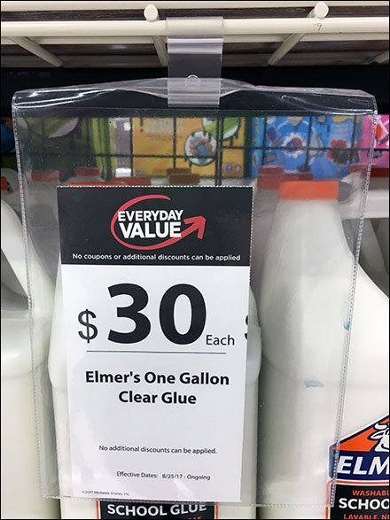 Elmers School Glue Vinyl Pouch Signing