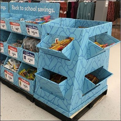 Endless Back-To-School Bulk Bin in Corrugated