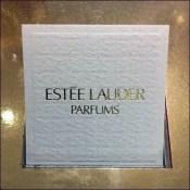 Estee Lauder Branded Perfume Tester Cards