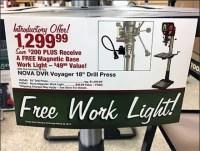Free Work-Light Drill-Press Purchase Display