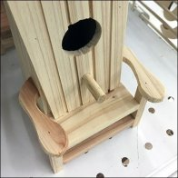 Handcrafted Wood Adirondack Chair Birdhouse