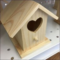Wood Birdhouse Mobile Tower With Fenders