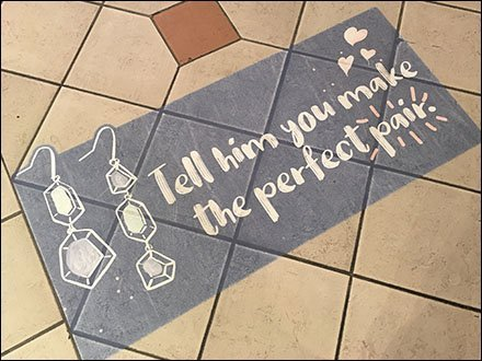 Mall-Concourse Fashion-Earring Floor Graphic