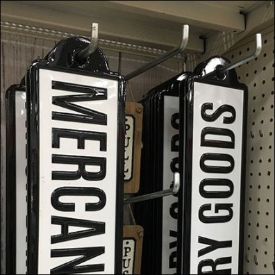 Mercantile and Dry Goods Retail Signs