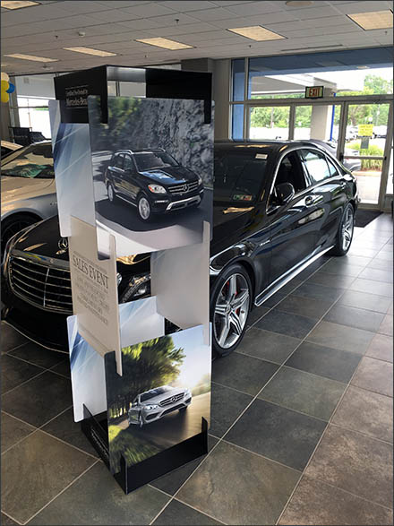 Mercedes Benz Slot-Construction Corrugated Display