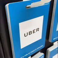 Minimalist Uber Gift Card Butterfly Hook
