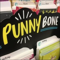 Punny Bone Greeting In-Line Card Display