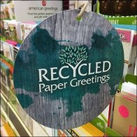 Recycled Paper Greeting Card Dangler Callout