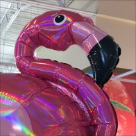 Summer Flamingo Inflatable Merchandising