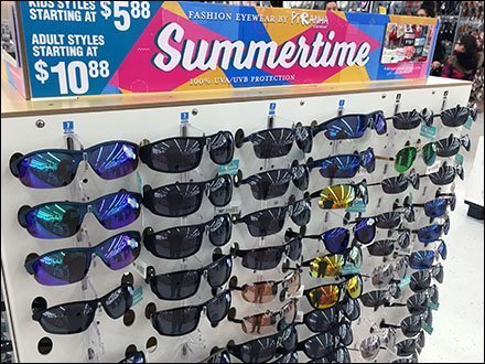Summertime Sunglasses Pallet Display