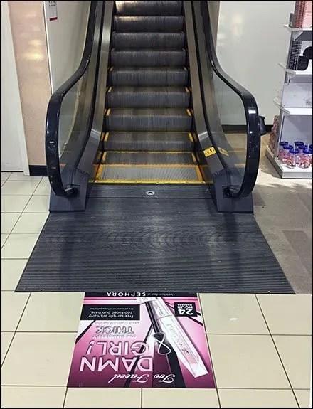 Too Faced Escalator Floor Graphic Orientation