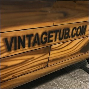 Vintage Tub-And-Bath Stairwell Branding