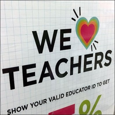 We-Love-Teachers Discounts Every Single Day