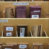 Compartmentalized Wood Sample Display Tiered