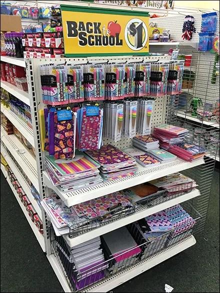 Back-To-School $1 Bargains Endcap