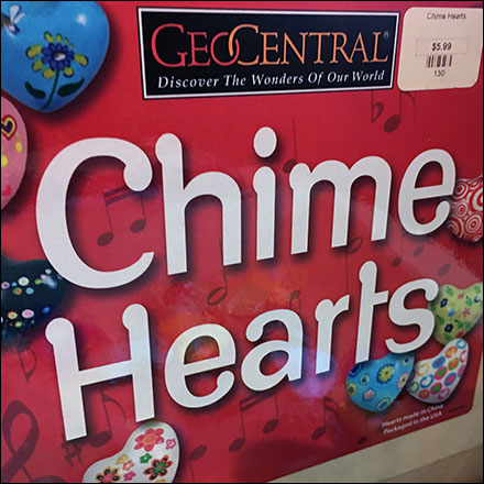 Chime-Hearts Shelf-Top Plywood Box Display