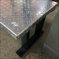 Industrial-Chic Diamond Plate Bench