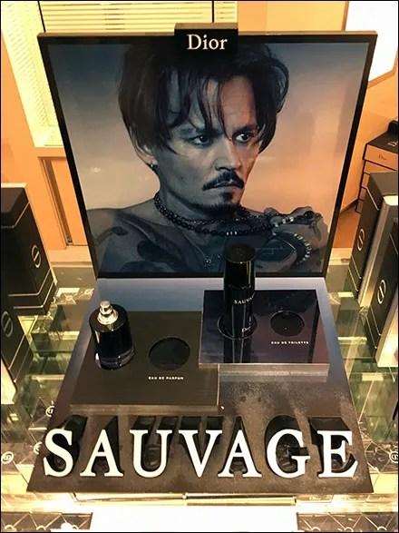 Dior Sauvage Perfume Dimensional Display
