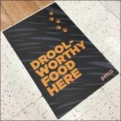 Drool-Worthy Pet-Food Floor Graphic