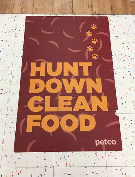 Hunting-Down-Pet-Food Floor Graphic