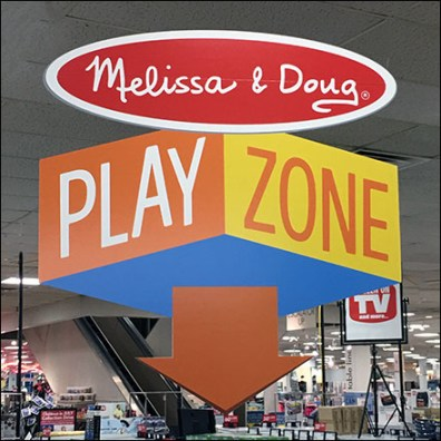 Melissa & Doug Play Zone Tree Display Square