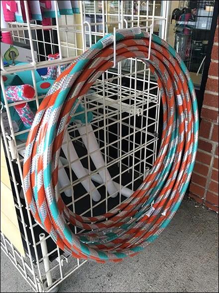 Outdoor Hula-Hoop Hanger Merchandising