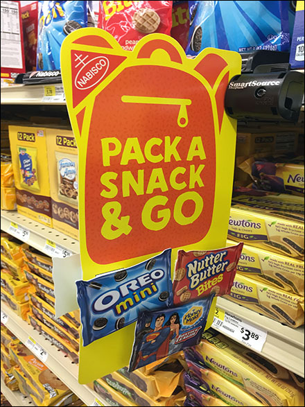 Nabisco Pack-A-Snack Dimensional Promotion