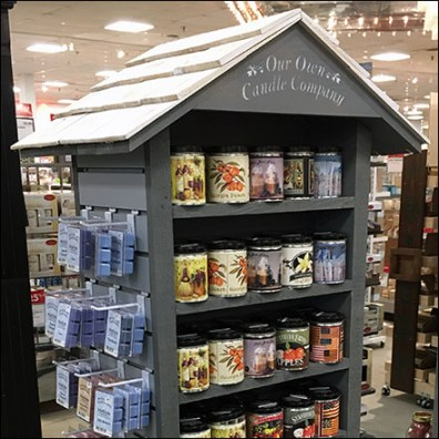 Our-Own-Candle-Company Tall Rustic Shed Display