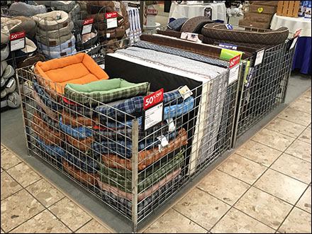 Pet-Bed Horizontal Bulk-Bin Merchandising