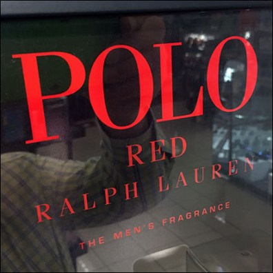 Freestanding Polo Red Fragrance Display