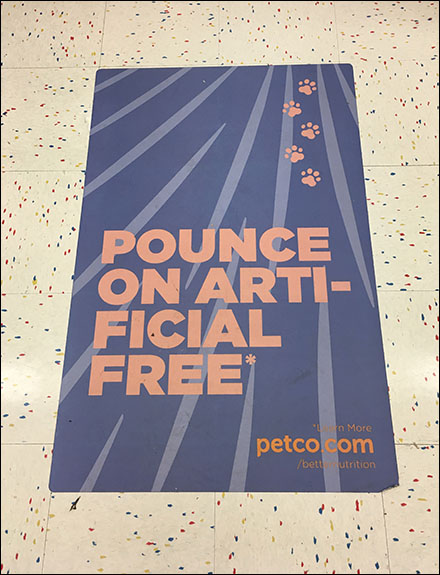 Pounce-On-Pet-Food Floor Graphic