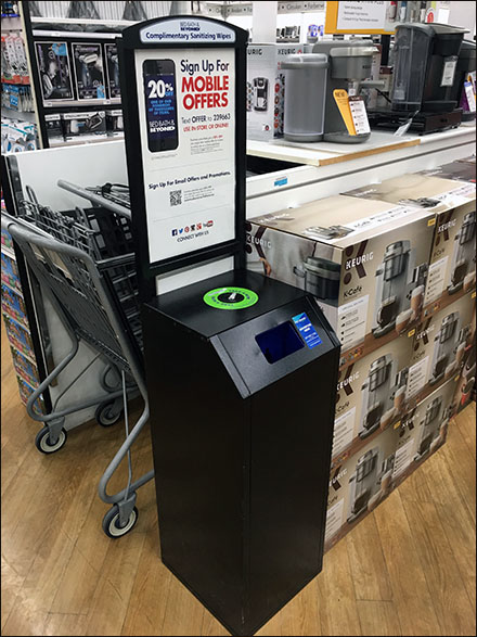 Sanitary-Wipe Mobile Offer Advertising In-Store