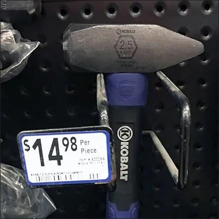 Sledge-Hammer Perforated Metal Merchandising