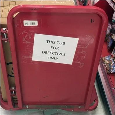 Dedicated Defectives Transport Cart Labeling