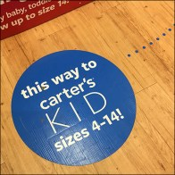 This Way to Kid's Sizes Floor Graphic Breadcrumb Trail Feature