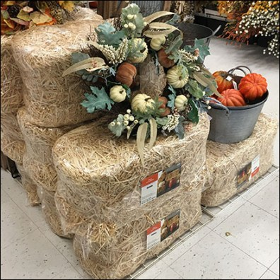 Fall Straw Bale Visual Merchandising