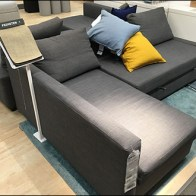 IKEA Floorstand Fabric Samples Couch-Side