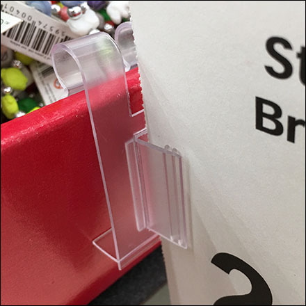 Gridwall-Clip Corrugated-Bulk-Bin Sign