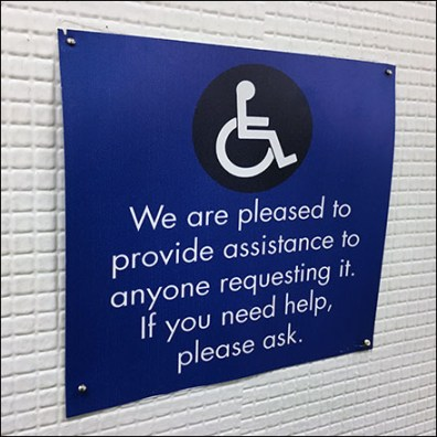Handicapped Assistance For The Asking